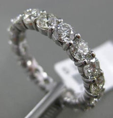 3.06CT DIAMOND 14KT WHITE GOLD SHARED PRONG ETERNITY WEDDING ANNIVERSARY RING