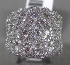 ESTATE LARGE 2.45CT DIAMOND 18KT WHITE GOLD 3D MULTI ROW ETOILE COCKTAIL RING