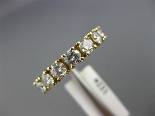 ESTATE 1.15CT DIAMOND 14KT YELLOW GOLD 3D 7 STONE WEDDING ANNIVERSARY RING #221