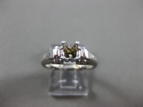 ESTATE 14KT WHITE GOLD 3D FILIGREE CLASSIC SEMI MOUNT ENGAGEMENT RING #24615