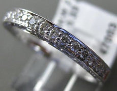 ESTATE .33CT DIAMOND 14KT WHITE GOLD 3D FILIGREE SEMI ETERNITY ANNIVERSARY RING