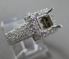 ESTATE WIDE 1.67CT DIAMOND 14KT WHITE GOLD HALO SEMI MOUNT ENGAGEMENT RING #2874