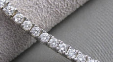 "ANTIQUE 3.40CT DIAMOND 18K WHITE GOLD MODERN RECTANGLE BRACELET 7"" F/G VVS #1495"