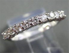 ESTATE .35CT DIAMOND 14KT WHITE GOLD 11 STONE ANNIVERSARY / WEDDING RING #1639