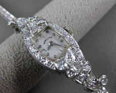 ANTIQUE 2.15CT OLD MINE DIAMOND PLATINUM & 14KT WHITE GOLD HAMILTON WATCH #23761