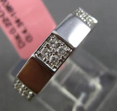 ESTATE .22CT DIAMOND 18K WHITE GOLD 3D SQUARE SEMI ETERNITY 4 STONE WEDDING RING