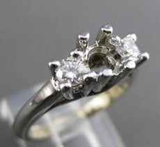 ESTATE .38CT DIAMOND 14KT WHITE GOLD 3D LUCIDA SEMI MOUNT ENGAGEMENT RING #15266