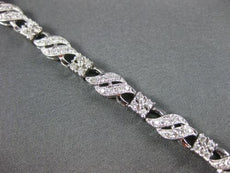 ESTATE WIDE 1.88CT DIAMOND 14KT WHITE GOLD 2 ROW MULTI WAVE TENNIS BRACELET