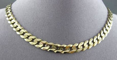 ESTATE LONG 14KT YELLOW GOLD SOLID CUBAN ITALIAN MEN'S NECKLACE CHAIN #23030