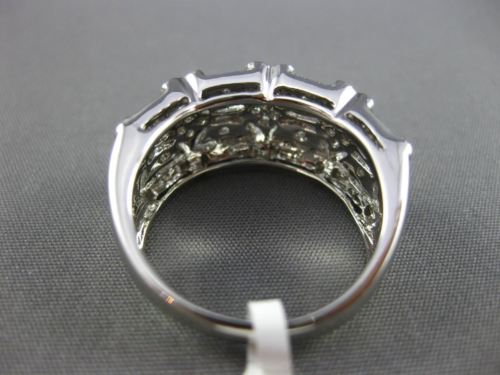 ESTATE WIDE .33CT DIAMOND 14KT WHITE GOLD 3D FILIGREE MILGRAIN ANNIVERSARY RING