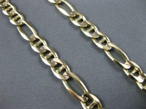 ESTATE WIDE & LONG 14KT YELLOW GOLD CLASSIC FIGARUCCI NECKLACE CHAIN #23029