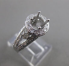 ESTATE .78CT DIAMOND 14KT WHITE GOLD PAVE HALO SEMI MOUNT ENGAGEMENT RING 21349