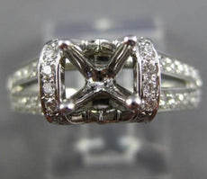 ESTATE .50CT ROUND DIAMOND 14KT WHITE GOLD 3D 4 PRONG SEMI MOUNT ENGAGEMENT RING