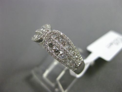 ESTATE .84CT ROUND DIAMOND 18KT WHITE GOLD 3D ETOILE OPEN FILIGREE LOVE FUN RING