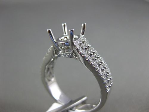 .55CT DIAMOND 18K WHITE GOLD MULTI ROW SEMI ETERNITY SEMI MOUNT ENGSGEMENT RING