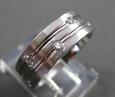ESTATE .35CT DIAMOND ETOILE TWO ROW 14KT WHITE GOLD ETERNITY RING UNIQUE! #12187