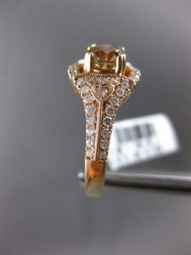 LARGE 1.56CT WHITE & CHOCOLATE FANCY DIAMOND 14K ROSE GOLD HEART ENGAGEMENT RING