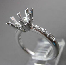ESTATE MASSIVE .35CT DIAMOND 14K WHITE GOLD 3D SEMI MOUNT ENGAGEMENT RING #18599
