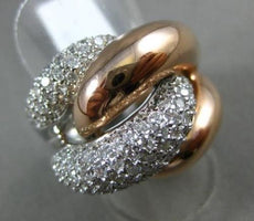 ESTATE MASSIVE 3.0CT DIAMOND 14KT WHITE & ROSE GOLD 3D LOVE KNOT COCKTAIL RING
