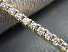 ESTATE WIDE 4.87CT DIAMOND 14KT YELLOW GOLD TENNIS BRACELET F VVS STUNNING #1480