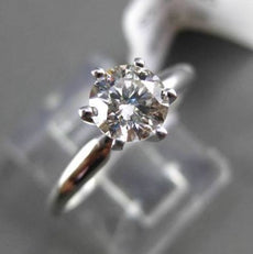 ESTATE .66CT DIAMOND 14KT WHITE GOLD CLASSIC SOLITAIRE ENGAGEMENT RING BEAUTIFUL