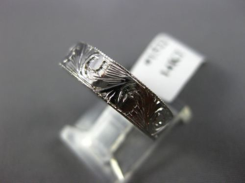 ANTIQUE 14KT WHITE GOLD 3D HANDCRAFTED FILIGREE WEDDING ANNIVERSARY RING #1522
