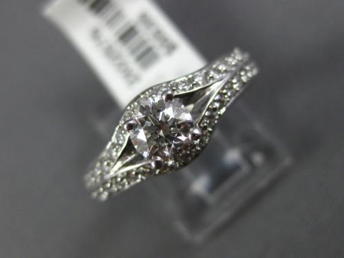 ESTATE 1.0CT DIAMOND 14KT WHITE GOLD 3D SOLITAIRE SEMI ETERNITY ENGAGEMENT RING