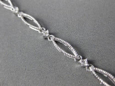 ANTIQUE LONG .05CT DIAMOND 14K WHITE GOLD DIAMOND BY THE LINK BRACELET BEAUTIFUL