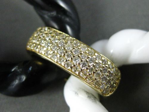 ESTATE MASSIVE 33.5CT DIAMOND & AAA ONYX 14KT YELLOW GOLD 3D OVAL LINK BRACELET