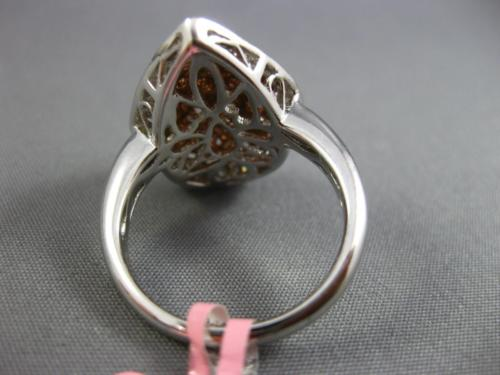 GIA LARGE 2.54CT WHITE & PINK DIAMOND 18K WHITE & ROSE GOLD 3D FILIGREE FUN RING