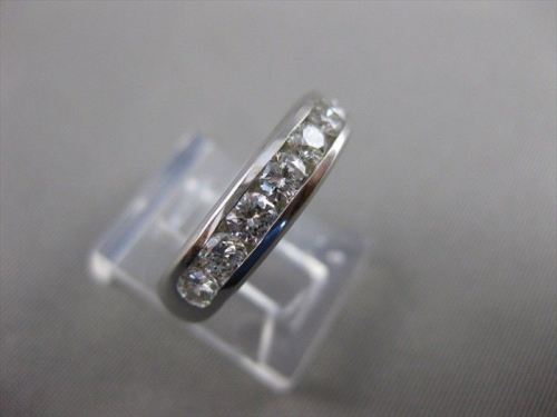 ESTATE 1.20CT 9 ROUND DIAMOND 14K W GOLD CHANNEL WEDDING ANNIVERSARY RING #21346