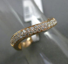 ESTATE .29CT DIAMOND 18KT ROSE GOLD 3D DOUBLE ROW WAVE WEDDING ANNIVERSARY RING
