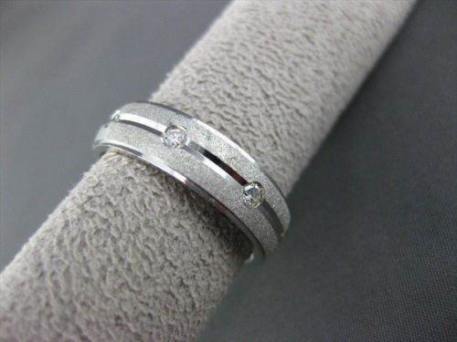 ESTATE WIDE .26CT DIAMOND 14K WHITE GOLD ETOILE ETERNITY ANNIVERSARY RING #14344
