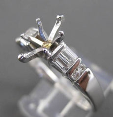 ESTATE .48CT DIAMOND 14KT WHITE GOLD BAGUETTE SEMI MOUNT ENGAGEMENT RING #17814