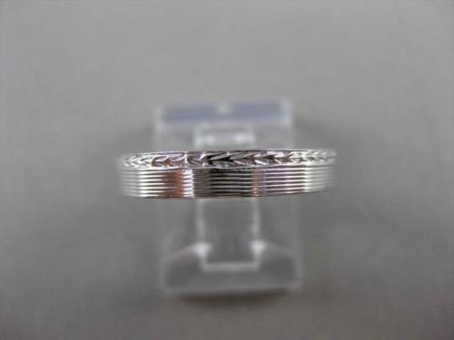 ANTIQUE 18KT WHITE GOLD FILIGREE 3D WEDDING ANNIVERSARY BAND RING 3mm #ELVINA40
