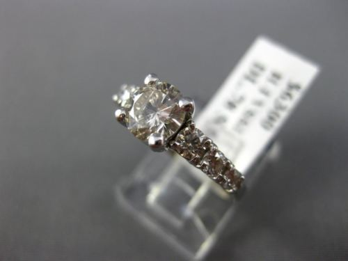 ANTIQUE 1.33CT OLD MINE DIAMOND 14KT WHITE GOLD 3D CLASSIC ENGAGEMENT RING #1630