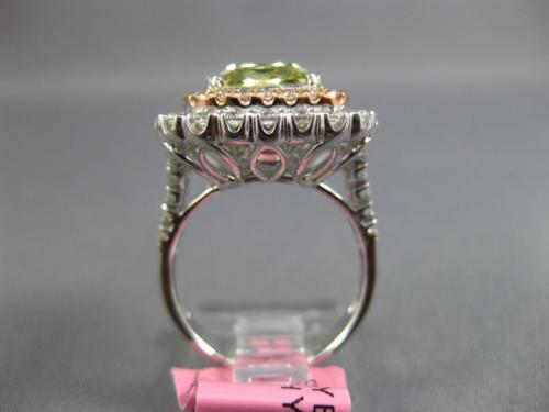 GIA EXTRA LARGE 6.93CT MULTI COLOR DIAMOND 18KT WHITE & ROSE 3D ENGAGEMENT RING