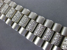 ESTATE LONG 8.0CT DIAMOND 18KT WHITE GOLD 3D ITALIAN DIAMOND MENS WATCH BAND