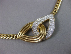 ESTATE WIDE 1.90CT DIAMOND 18KT W&Y GOLD DOUBLE INFINITY CHOKER NECKLACE #263
