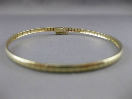 ESTATE 14KT YELLOW GOLD FLEXIBLE OMEGA 3mm BRACELET SIMPLY BEAUTIFUL!!! #23298