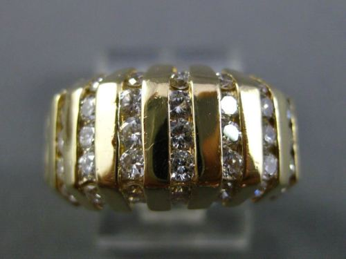 ESTATE WIDE 1.05CT DIAMOND 14K YELLOW GOLD CHANNEL WEDDING ANNIVERSARY RING 5750