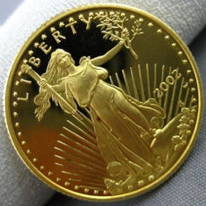 ESTATE 22KT YELLOW GOLD 1/4 oz. 2002 LIBERITY AMERICAN EAGAL COIN 22mm WIDE