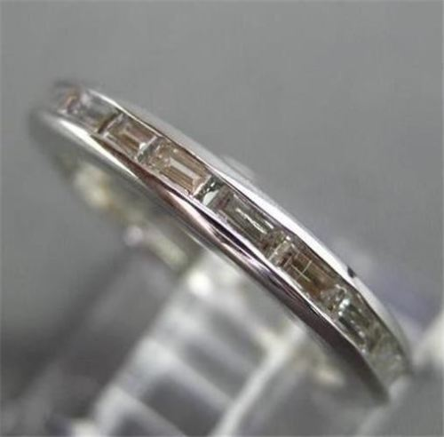 ANTIQUE 1.20CT DIAMOND 14KT WHITE GOLD BAGUETTE ETERNITY ANNIVERSARY RING #22441