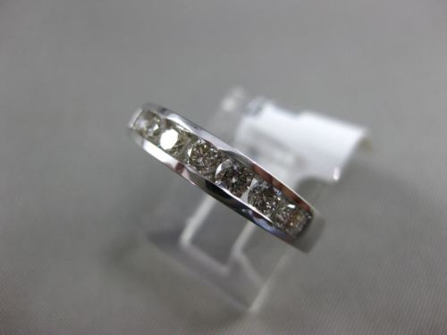 ESTATE .72CT DIAMOND 14KT WHITE GOLD 3D 7 STONE CHANNEL WEDDING ANNIVERSARY RING