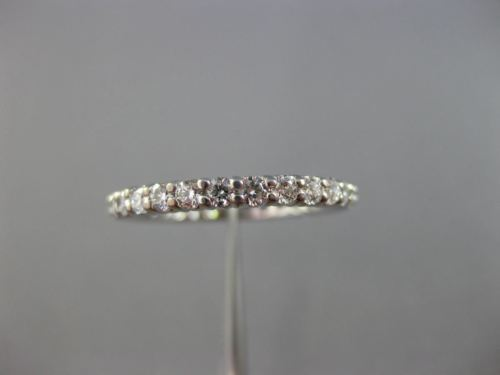 ESTATE 1.01CT DIAMOND 14KT WHITE GOLD SHARED PRONG ETERNITY WEDDING RING #25531