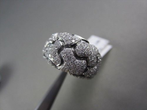 ANTIQUE 18KT TURTLE ALLIGATOR DESIGN 1.79CT DIAMOND BLACK AND WHITE GOLD RING !