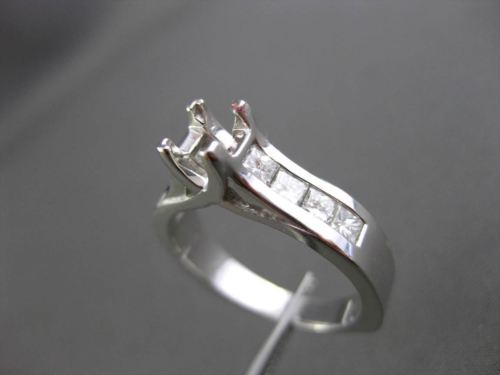 ESTATE 1.20CT DIAMOND 14KT WHITE GOLD LUCIDA SEMI MOUNT ENGAGEMENT RING #21144