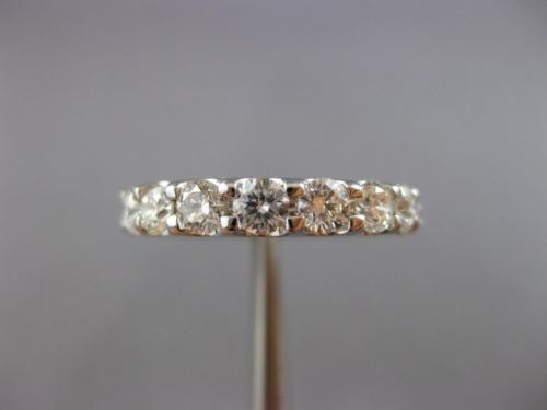 ESTATE 2.45CT ROUND DIAMOND 14KT WHITE GOLD 3D ETERNITY WEDDING ANNIVERSARY RING