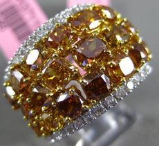 GIA 6.22CT WHITE & INTENSE FANCY YELLOW DIAMOND 18K 2 TONE GOLD ANNIVERSARY RING