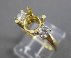 ESTATE .42CT DIAMOND 14KT YELLOW GOLD 3 STONE SEMI MOUNT ENGAGEMENT RING #17366
